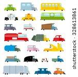 car set cartoon style. big... | Shutterstock .eps vector #328613861