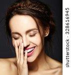 glamour portrait of beautiful ... | Shutterstock . vector #328616945
