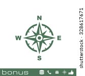 compass icon   Shutterstock .eps vector #328617671