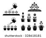 garden icons on white background | Shutterstock .eps vector #328618181