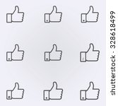 thumb up icon set . vector... | Shutterstock .eps vector #328618499