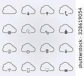 cloud set icon . vector...   Shutterstock .eps vector #328619054