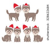 new year's and christmas funny... | Shutterstock .eps vector #328622684
