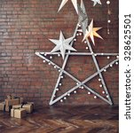 christmas background with stars ... | Shutterstock . vector #328625501