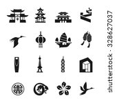 china icons set vector | Shutterstock .eps vector #328627037