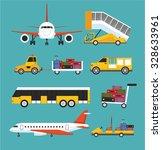 airport transport vector flat...   Shutterstock .eps vector #328633961