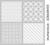 set of 4 monochrome elegant... | Shutterstock .eps vector #328638455