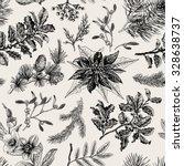 vector seamless vintage pattern.... | Shutterstock .eps vector #328638737