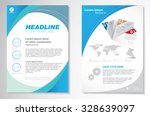 vector brochure flyer design... | Shutterstock .eps vector #328639097