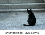 Stock photo black cat 32863948