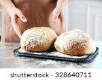 baker checking freshly baked... | Shutterstock . vector #328640711