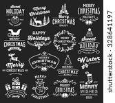 christmas design elements ... | Shutterstock .eps vector #328641197