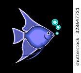 fish vector underwater sea... | Shutterstock .eps vector #328647731
