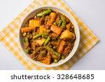 indian recipe  mixed veg... | Shutterstock . vector #328648685