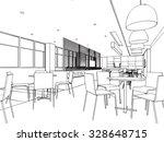 interior outline sketch drawing ... | Shutterstock .eps vector #328648715