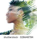 double exposure portrait of... | Shutterstock . vector #328648784