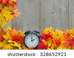 autumn leaves background ... | Shutterstock . vector #328652921