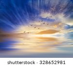 water and sky reflections | Shutterstock . vector #328652981