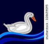 duck vector bird background... | Shutterstock .eps vector #328659095