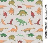 dinosaur pattern | Shutterstock .eps vector #328660295