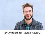 close up portrait handsome... | Shutterstock . vector #328673399