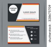 modern business visiting card ... | Shutterstock .eps vector #328675709