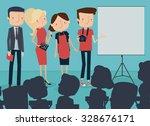 creative  team making... | Shutterstock .eps vector #328676171
