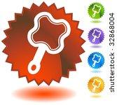 mirror badge | Shutterstock . vector #32868004