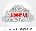 grammar word cloud  education... | Shutterstock .eps vector #328682105
