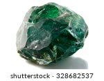 a piece of green solid glass on ... | Shutterstock . vector #328682537