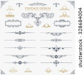 baroque set of vintage decor...   Shutterstock .eps vector #328684004