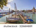 lindau  germany   lighthouse at ... | Shutterstock . vector #328684889