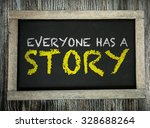 everyone has a story written on ... | Shutterstock . vector #328688264