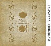 restaurant menu logo   vector... | Shutterstock .eps vector #328692437