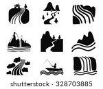 black river icons set | Shutterstock .eps vector #328703885