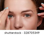 close up of female face during...   Shutterstock . vector #328705349