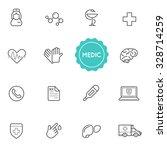 set of medical hospital vector... | Shutterstock .eps vector #328714259