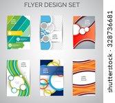 vector set of business flyer... | Shutterstock .eps vector #328736681