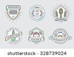 retro design logotype set. diy... | Shutterstock .eps vector #328739024