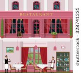 set of detailed restaurant... | Shutterstock .eps vector #328741235