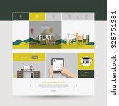 modern flat website template...