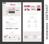 business one page website design | Shutterstock .eps vector #328751417
