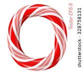 mint hard candy cane vector... | Shutterstock .eps vector #328758131