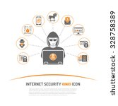 internet security concept with... | Shutterstock .eps vector #328758389
