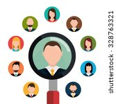 find person and job interview... | Shutterstock .eps vector #328763321