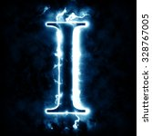 lightning letter i | Shutterstock . vector #328767005