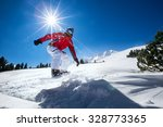 snowboard in the mountains... | Shutterstock . vector #328773365