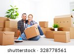 moving to a new apartment.... | Shutterstock . vector #328778561