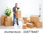 moving to a new apartment.... | Shutterstock . vector #328778687