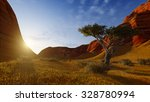 evening scenery in a canyon.... | Shutterstock . vector #328780994